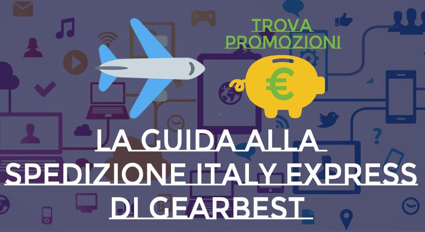 Traccia le spedizioni Italy Express Gearbest