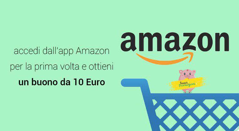 c0ed0d72b7 Amazon lancia una nuova imperdibile promo: buono sconto di 10 Euro per chi  accede all'app Amazon per la prima volta!!