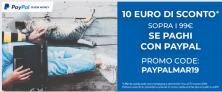 Unieuro sconta 10 Euro su una spesa minima di 99 Euro pagando con Paypal