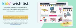 Kid's Wish List: risparmia il 15% sul primo acquisto di almeno 20€ con il codice KWL15